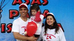 Papai Alexandre, Isabela e mamãe Vanessa
